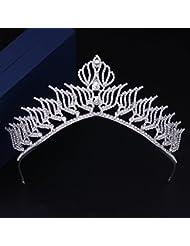 &zhou Tocado nupcial de la joyería del pelo por los accesorios 26 * 6.5cm del vestido de boda de la mano