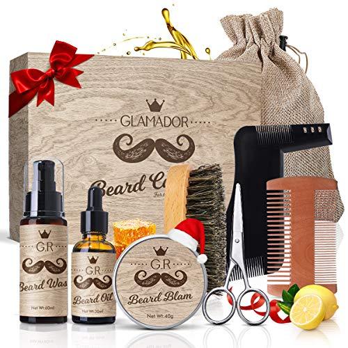 Kit Cuidado de Barba 8pcs GLAMADOR - Aceite Barba