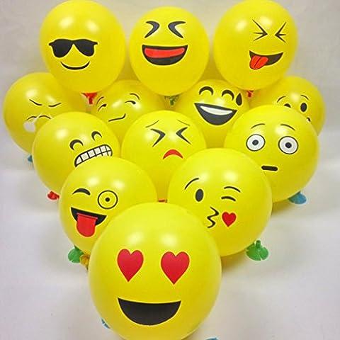 Fuibo 10/20/50 / 100Pcs Nette Emoji Gesichts Ballone für Festival