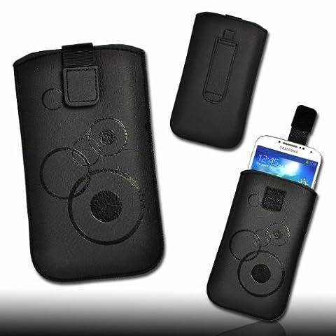 Handy Tasche Kunstleder schwarz für Nokia E7 / X7-00 /