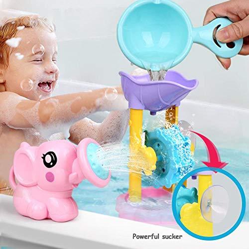 Baby Badespielzeug Kit 3 STÜCKE, Cute Baby Badetiere Spielzeug Dusche Kinder Wasser Badewanne Badezimmer Spielen Spielzeug, Elefant Form Wasserrad Wasser Strand Spielzeug, Geschenke (Farbe Zufällig) (Geschenke Für Baby-dusche-spiele)