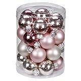 Inge-glas 15086D001 Kugel 30 mm, 28 Stück/Dose, Marais-Mix(elfenbein,rose,magnolie)