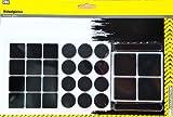 JES COLLECTION® Möbelgleiter-Set - 28 selbstklebende Filzgleiter, dreiformatig - schwarz