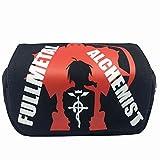 Etruke Fullmetal Alchemist PU astuccio di pelle matita box Cosplay Gift