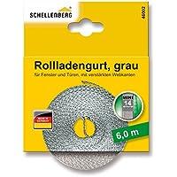 Schellenberg 46102 Cinta de persiana (14 mm de Ancho, 6 m) Color Gris, Mini