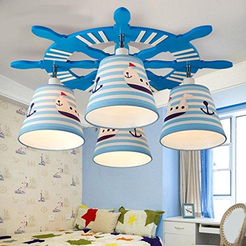 Fu Man Li Trading Company Kinderzimmer LED-Deckenleuchte Karte Navigation Meer Lampe männlichen und weiblichen Schlafzimmer Lampen A+ - Meer-lampe
