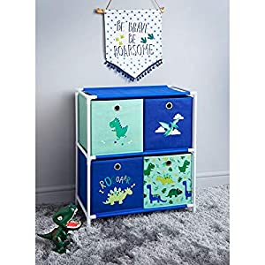 RA-HOMESTORE New Super Cute Dinosaur 4 Drawer Chest - Add some roar to your little one's bedroom   11