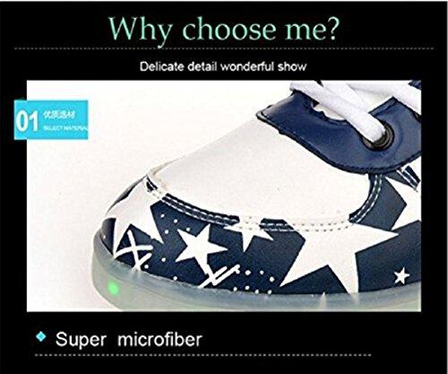 (Présents:petite serviette)JUNGLEST® Gogoo Club 7 Couleur Mode Unisexe Homme Femme USB Charge Lumière Lumineux Chaussures de marche LED Ch Rouge