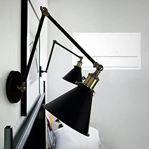 Nostralux® Modern Industrial Long Adjustable Wall Sconce Edison Lamp Retro Wall Light