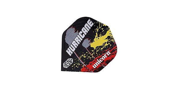 Unicorn Darts Unisexs Kim Huybrechts Black//Red//White//Yellow Big Wing Ultrafly Flights