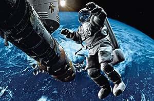 posters XXL Giant Art® Space Cowboy photo, photo murale, poster, grand format, 175x115cm, enfants, astronaute, espace, terre, vaisseau spatial,
