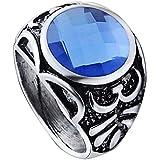 Anillo de imitación de zafiro anillo personalizado para los hombres anillo único