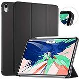 Ztotop Coque pour iPad Pro 11 Pouces 2018,Stand à Trois Volets Cover Case avec Auto réveil/Sommeil pour 2018 iPad Pro 11 Pouces A1980 A1934 A2013 A1979,Noir