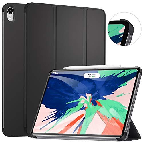 Ztotop Hülle für iPad pro 11 2018, Ultra dünn smart Trifold Stand Schutzhülle Cover Case mit Auto Aufwachen/Schlaf,Stift-Ladeanschluss für iPad Pro 11 Zoll,A1980 A1934 A2013 A1979, Schwarz (Ipad Case Stand)