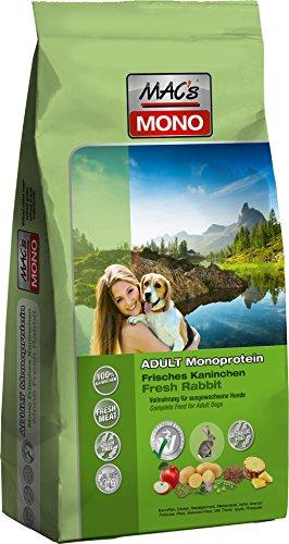 Mac's Mono Kaninchen, 1er Pack (1 x 12 kg) (Hundefutter Kaninchen)