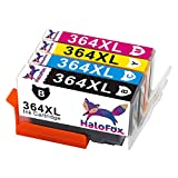 HaloFox 4 Cartouches d'encre 364XL Combo Multipack 364 XL Haut Rendement Compatible pour HP DeskJet 3520 3070A OfficeJet 4620 Photosmart 5510 5514 5515 5520 5524 5525 6510 6520 7510 7520 e-All-in-One Imprimante Photosmart Plus B209a C5380 C6380 All-in-One Imprimante Photosmart D5460 B010a Premium C310a