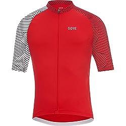 Gore Bike Wear 100164 Maillot, Hombre, Rojo/Blanco, M