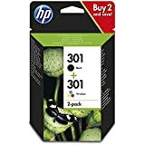 HP 301 2-pack Black/Tri-colour Original Ink Cartridges Combo pack N9J72AE