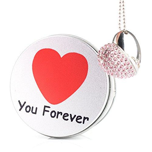 Love forever chiavetta usb cuore pink gioielli diamante cristallo ciondolo pendrive memoria usb flash drive 2,0 memory stick, idee regalo originali, figurine 3d, archiviazionearchiviazionearchiviazione dati usb gadget 8 gb/16 gb/32g/64gb