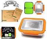 ECOtanka 2,0l Lunchbox mit orangefarbenen Verschlussrahmen 2X pocketBOX