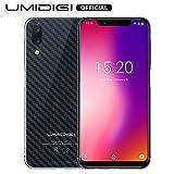 UMIDIGI One Pro, Smartphone da 5.9 Pollici Android 8.1 Dual SIM 4G VoLTE, Octa-Core, 4GB 64GB, NFC, Fotocamera da 12MP 5MP e 16 MP, Batteria 3250mAh Cellulare Compatibili con Qi - Carbon Fiber