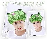 Baanuse Cuffia da Doccia, Donne Impermeabile Doppio Strato Cappello, per bambini verde rana