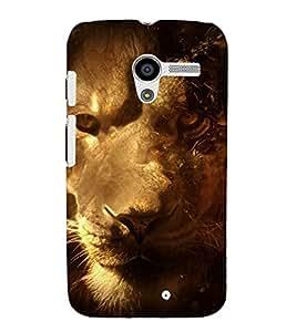 printtech Nature Animal Lion Fantasy Back Case Cover for Motorola Moto X XT1058 / Motorola Moto X (1st Gen)