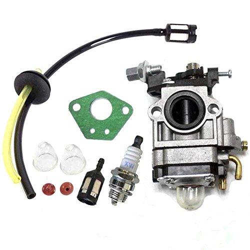 Queta carburatore per motore di decespugliatore 52cc 49cc 43cc, Kit CARBU con guarnizione, tubo, Candela di accensione e filtro a benzina