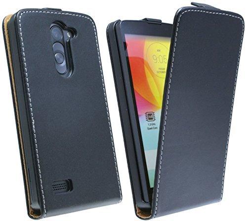 Klapptasche Schutztasche für das neue LG L Bello (D331) in Schwarz Tasche Hülle @ Energmix