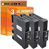 Gorilla-Ink® 3 Gel-Patronen XXL kompatibel für Ricoh GC-41 Black Aficio SG 3110 DN SG 3110 N SG 3110 SFNW SG 3120 B SF SG 3120 B SFN SG 3120 B SFNW SG 7100 DN