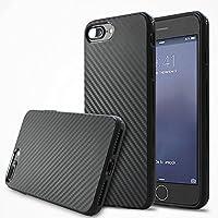 Deesos Iphone 7 Plus Cover Alta Qualità Carbonio Fibra Texture Morbido Silicone Antiurto Custodia per Iphone 7 Plus Nero