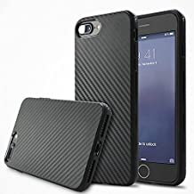 Deesos Iphone SE Funda, Iphone 5S Funda High Quality Carbon Fiber Grain Texturing Soft Silicone Shockproof Carcasa Funda for Iphone SE/5S Black