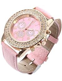 Amazon.es  Rosa - Relojes de pulsera   Mujer  Relojes a344fe1dc316