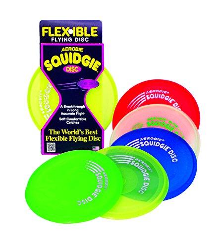 Schildkröt Funsports Aerobie Squidgie, rot, grün, blau, orange, lime, pink, 20 cm