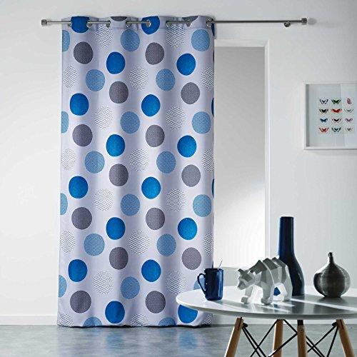 Douceur d'intérieur - tenda con occhielli, in poliestere, poliestere, blu, 280x140 cm