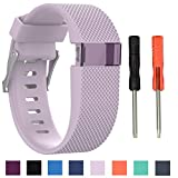 Cyeeson Fitbit Charge HR Watch Replacement Armband Weiche Silikon Farbe Adustable Band Gel Wristband Strap Watch Band für Fitbit Charge HR (Zwei Größ)