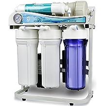 iSpring RCS5T - Legendario EEUU - 500GPD Bombeado sin tanque Flujo lateral Comercial ligero Osmosis inversa de 5 etapas Sistema de filtrado de agua - 1:1 Relación de residuos (compatible con 110 V y 220 V) - Ideal para empresas y hogares grandes