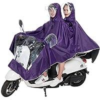 chlius Poncho De Lluvia A Prueba De Agua para Motocicleta, Capa De Lluvia Grande Scooter De Movilidad Universal Impermeable De Motociclista Chaqueta con Sombrero, Protección Completa