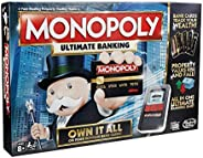 Monopoly Game: Ultimate Banking Edition Board Game, Electronic Banking Unit, Game For Families And Kids Ages 8