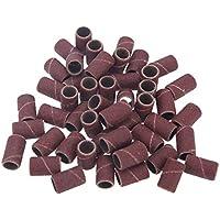 SGerste - Bandas de lija para manicura y pedicura (50 unidades, tamaño 80#120#180#)