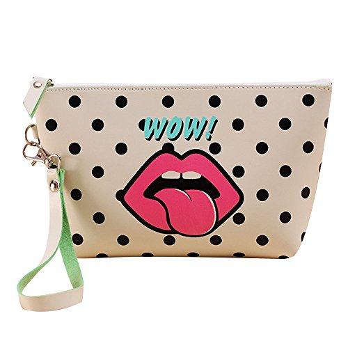 Contever® Fashion PU Sacchetto Lavata Cosmetic Borsa Cosmetico Wash Bagda Toilette Borsetta da Viaggio per le Donne la Signora Girl - Style 4