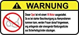 Opel V6 Motor German Lustig Warnung Aufkleber Decal Sticker