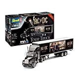 Revell 07453 Fan-Edition, Geschenkset AC/DC Tour Truck, 55,2cm 10 originalgetreuer Modellbausatz für Einsteiger, mit Basis-Zubehör, unlackiert