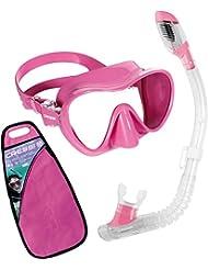 Cressi F1 Small & Minidry - Set de buceo para niña, color rosa