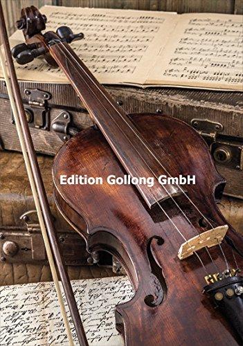 Glckwunschkarte-Violine-Notenbltter