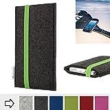flat.design Handy Hülle Coimbra für Caterpillar Cat S41 handgefertigte Handytasche Filz Tasche fair grün dunkelgrau