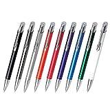 WPRO Metall Kugelschreiber 'Jenny' mit Gravur Druck/Werbung/bedruckt ab 50 Stück (alle mit gleicher Gravur) - 50 Stück