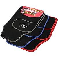 Universal 4pc Front Rear PVC Auto Van Floor Mat Carpet Non-Slip GRIP Feet Pattern