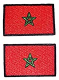 b2see Toppa termoadesiva, Motivo: Bandiera del Mondo Marocco