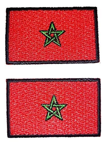b2see Aufnäher/Patch/Applikation Landes/National Fahne/Flagge Banner/Abzeichen/Emblem/Wimpel gestickt/Bestickt Marokko (Land Flagge Banner)